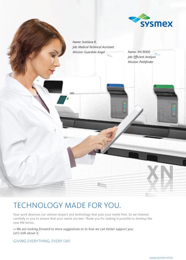Sysmex - Produktvisualisierungen