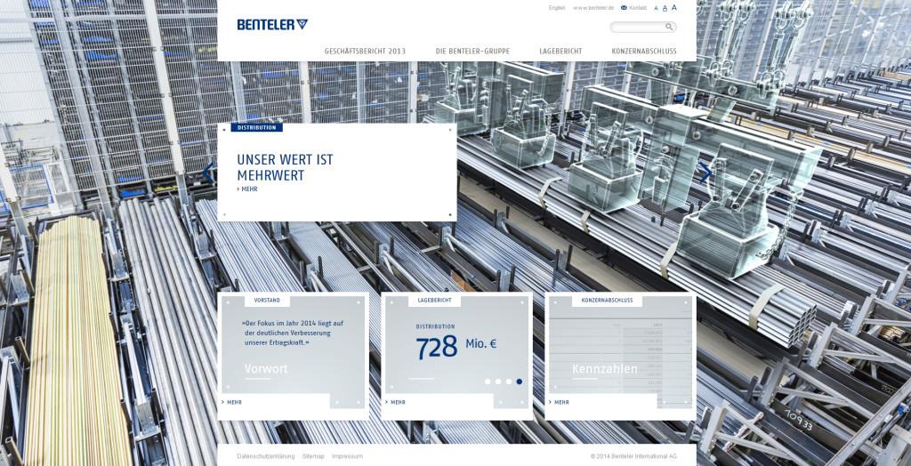 3D-Illustrationen für Geschäftsbericht - Kran-Stahlrohre